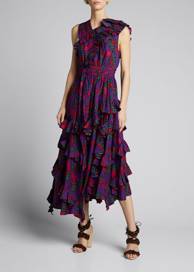 Imogen Tiered Floral-Print Dress