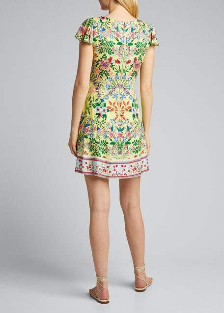 Hadley Button-Front Flared Dress