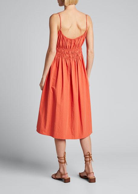 Gabriela Smocked Sleeveless Midi Dress