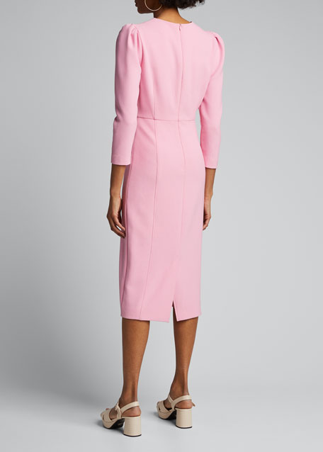 Geoff Puff-Sleeve Sheath Dress