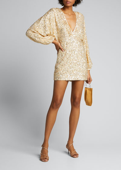Aubrielle Metallic Sequin Cocktail Dress