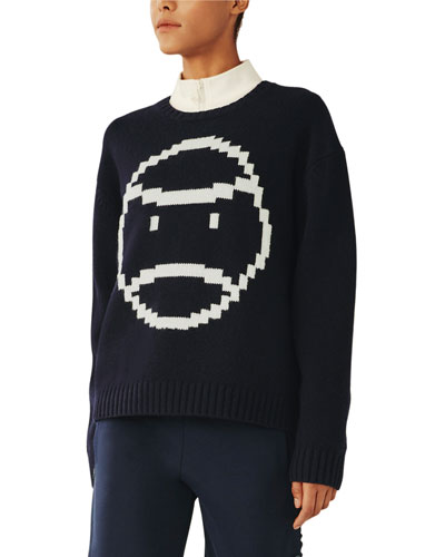 Chunky Merino Pixel Little Grumpd Sweater