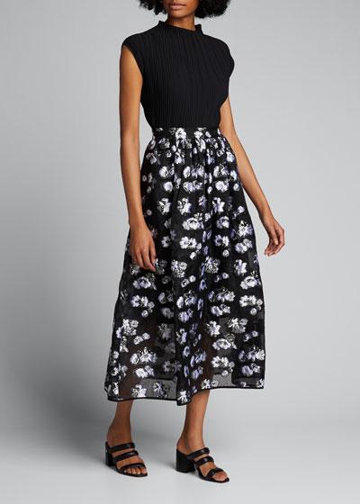 Opere Floral Midi Skirt