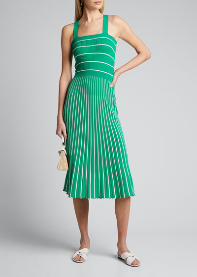 Bess Striped Sleeveless Long Dress