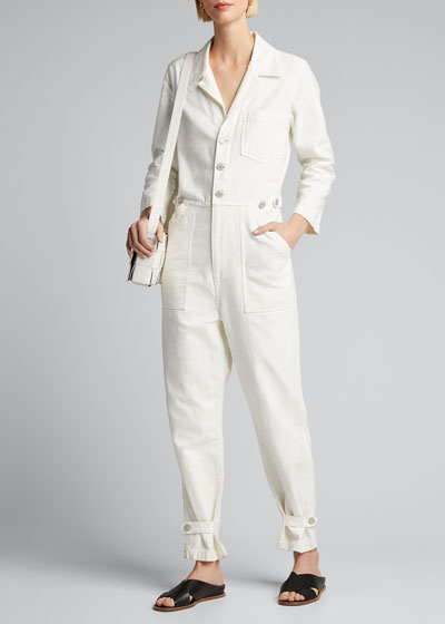 Giselle Button-Front Boilersuit