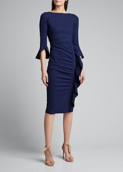 Beymali Side-Ruffle Sheath Dress