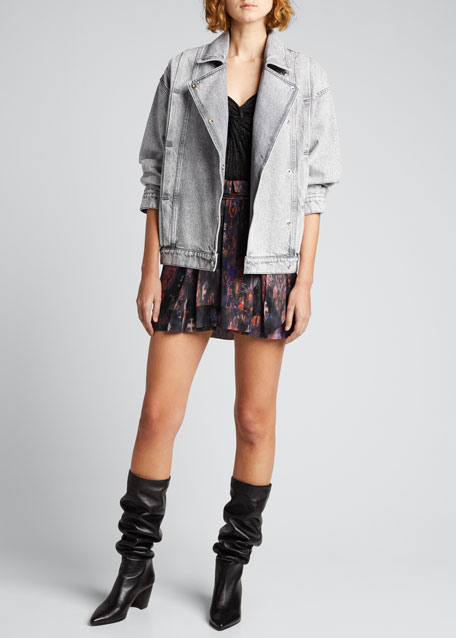 Image 1 of 1: Noumi Snap-Front Denim Jacket