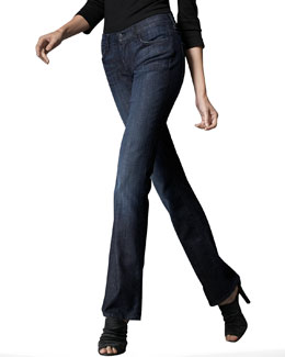 7 For All Mankind Mid-Rise Bootcut Jeans, LA Dark