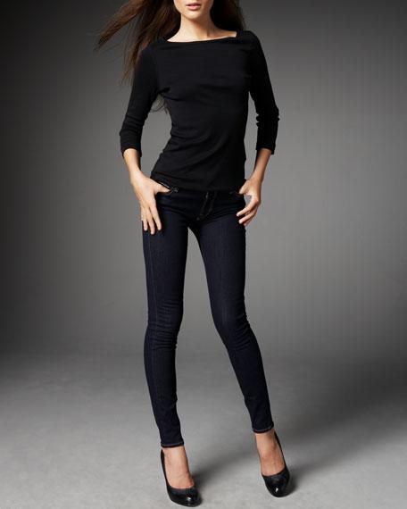 Skinny Denim Leggings, Indigo