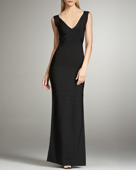 Sleeveless Bandage Gown