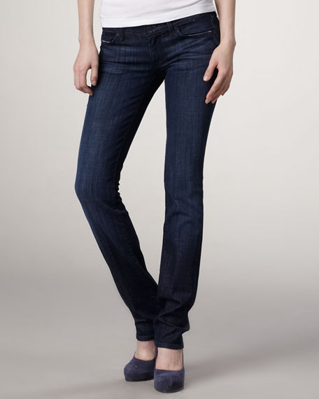 Classic Straight-Leg Los Angeles Dark Jeans