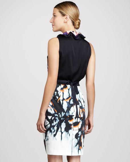 Clover Ruffle-Collar Dress