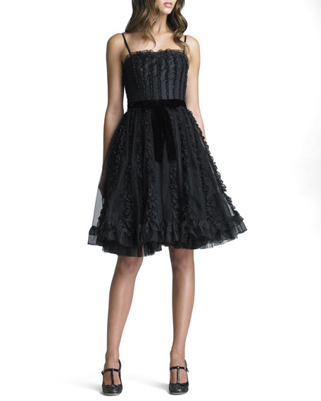 Organza Ruffled Tulle Dress