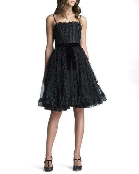 Organza Ruffled Tulle Dress
