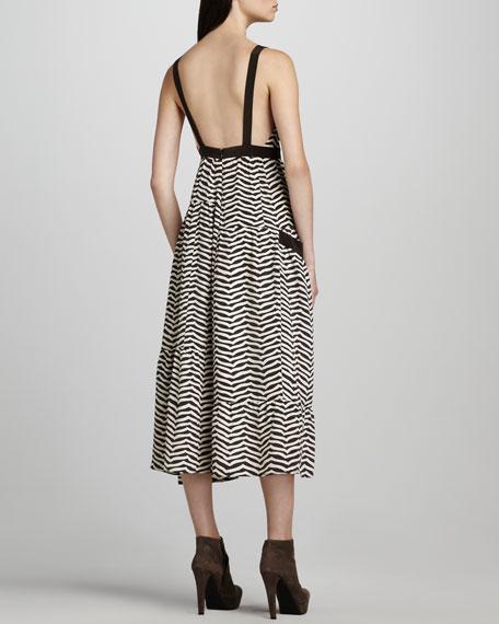 Zora Striped Midi Dress