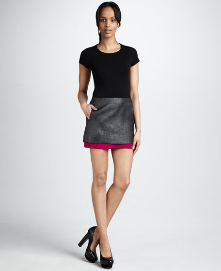 Elly Double-Layer Miniskirt