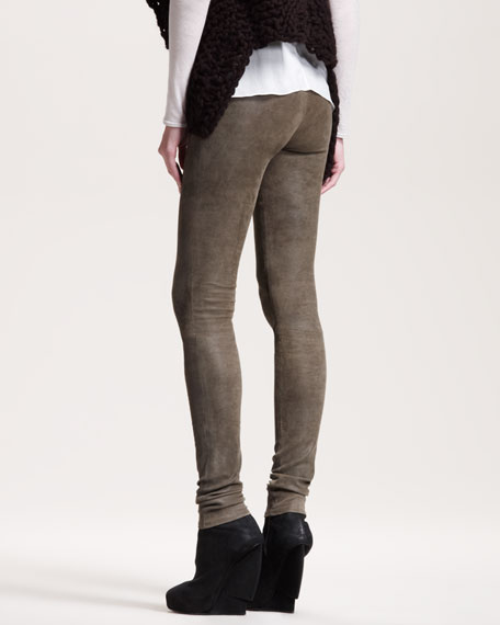 Patina Leather Leggings