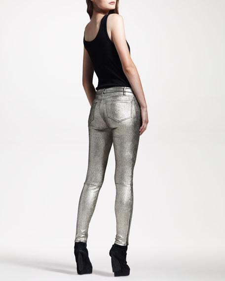 BG 111th Anniversary S8001 Super Skinny Metallic Suede Jeans