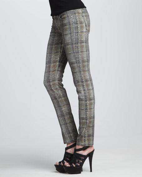 Snake-Print Jeans
