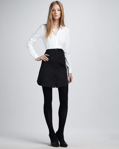 Contrast Combo Shirtdress