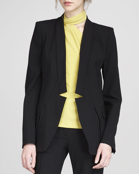 Notch-Front Blazer