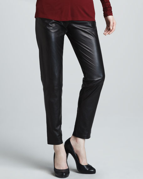 Relaxed Leather Pants