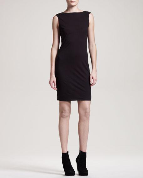 Jersey V-Back Dress