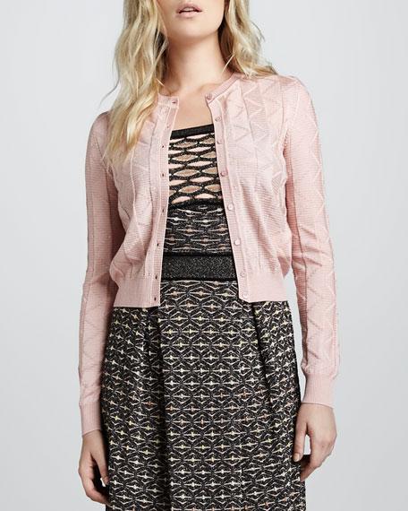 Zigzag-Stripe Cardigan