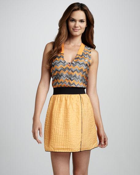 Zigzag Combo Dress