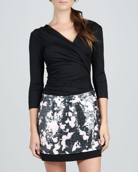 Elley Printed Miniskirt