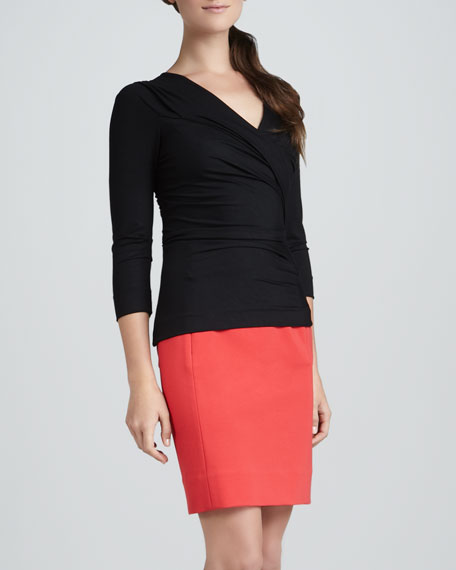 New Koto Pencil Skirt, Redstone