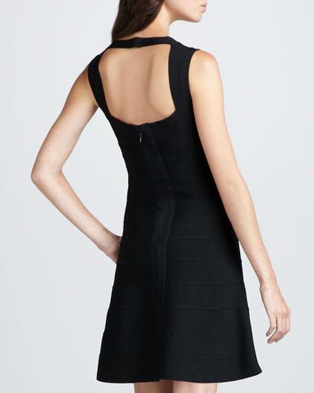 Flare-Skirt Bandage Dress