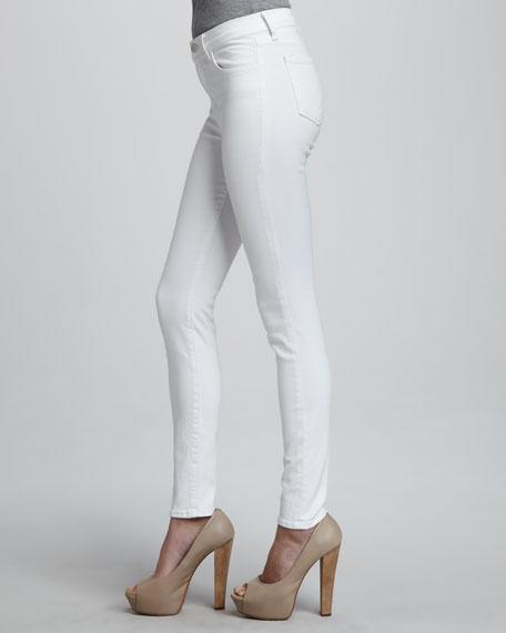 Maria High-Rise Skinny Jeans, Blanc