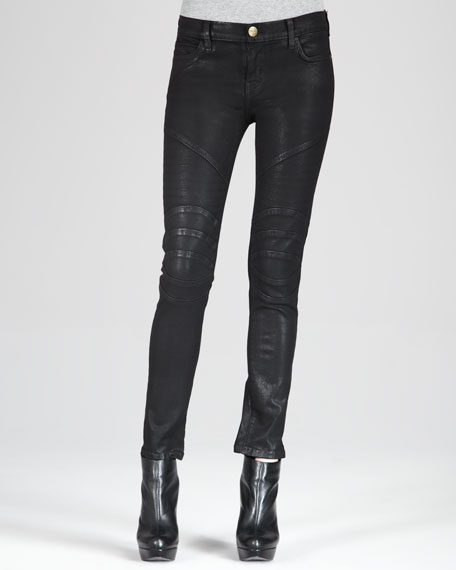 The Low-Rise Motorcycle Skinny Jeans