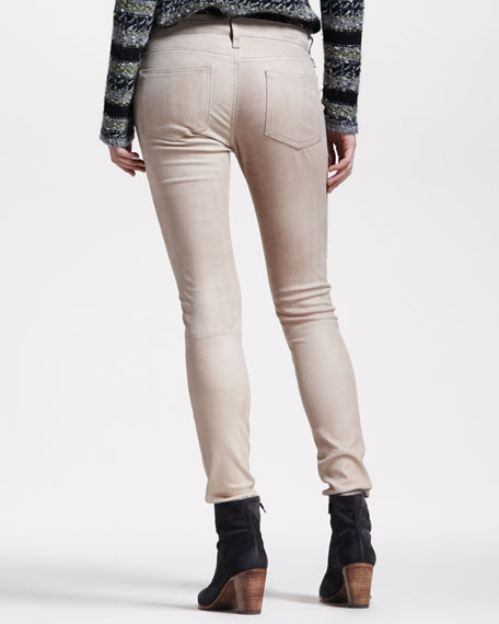 Skinny Nude Leather Pants