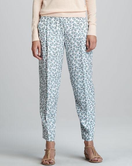 Rina Printed Silk Trousers