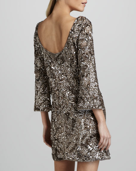 Sequined Silk Tunic Dress