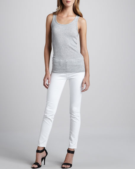 Skinny Ankle Jeans, Optic White