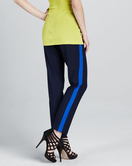 Contrast-Stripe Pants
