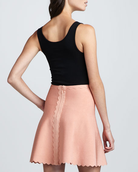 Scalloped Bandage Skirt