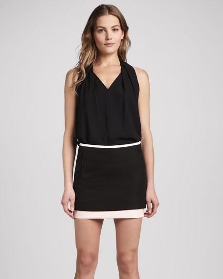 Elley Layered Cotton Miniskirt