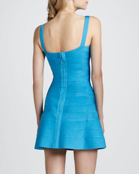 Square-Neck Bandage Dress