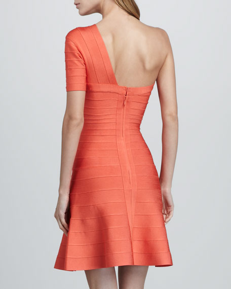 One-Shoulder A-Line Bandage Dress
