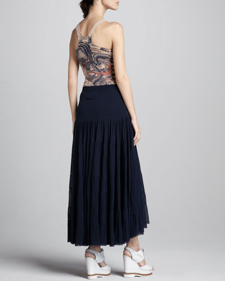 Tiered Tulle Maxi Skirt