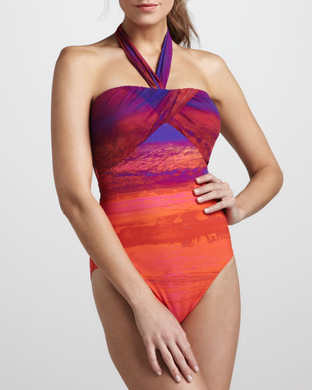 Calypso Halter One-Piece Swimsuit