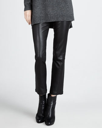 Cropped Leather Pants