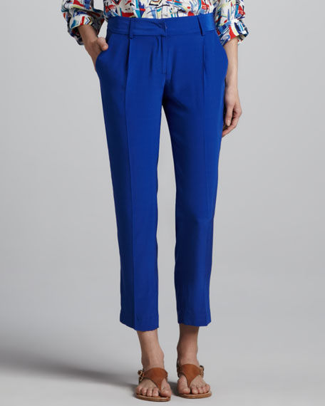 Nicole Cropped Silk Pants