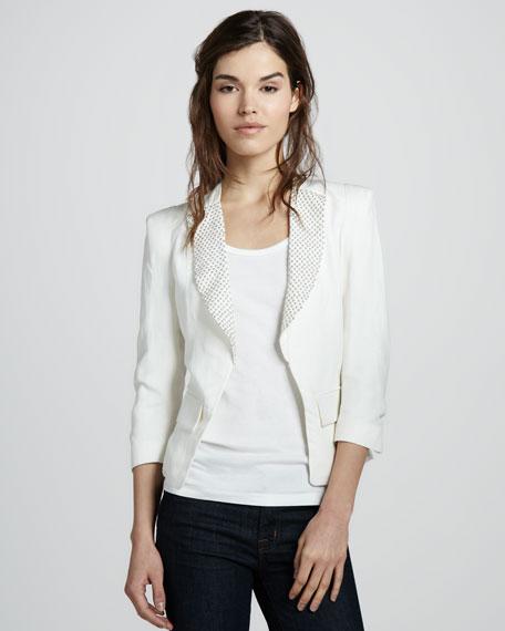 Studded Twill Jacket