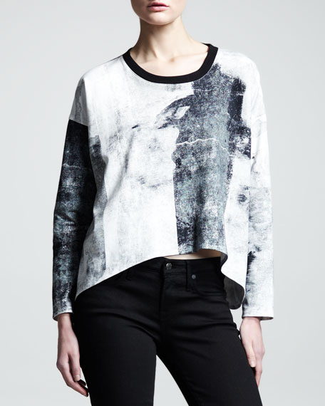 Band-Print Sweatshirt