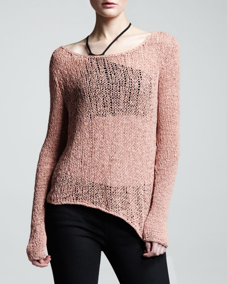 Sheer Asymmetric Pullover